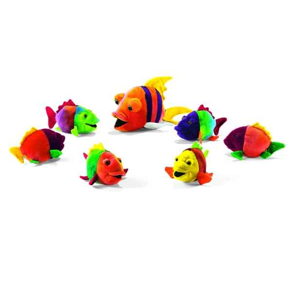 6 Peluches Poisson 15 cm Anima -2977