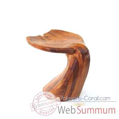 Tabouret de bar queue de baleine en resineux 40 cm Lasterne -MQU040-R