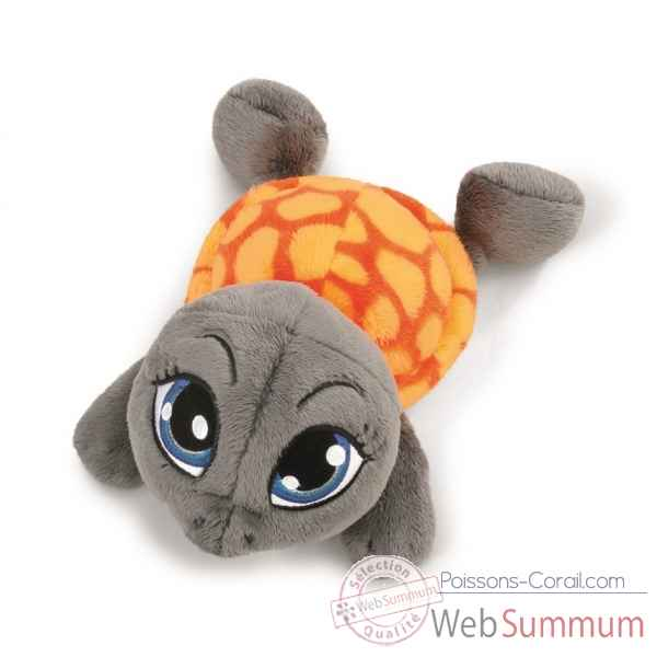 Peluche tortue anthracite couchee 50cm Nici -NI38677