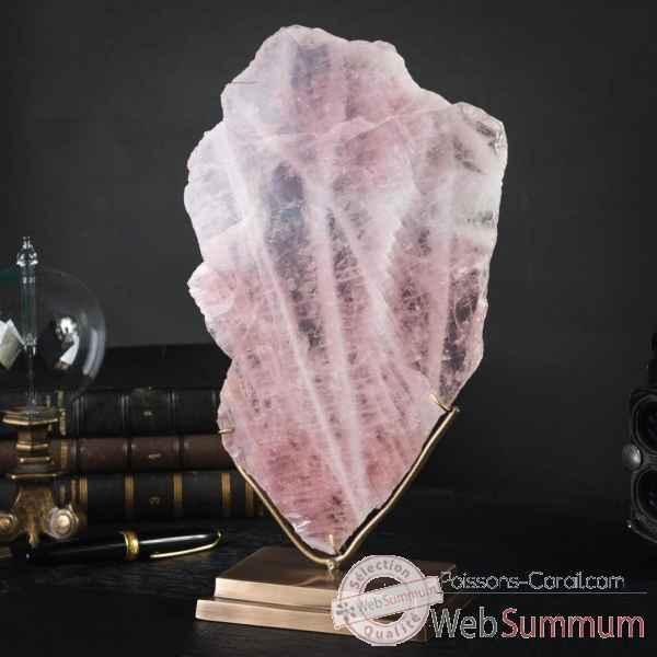 plaque fine de quartz rose poli mm objet de curiosit pumi861 2 dans min raux. Black Bedroom Furniture Sets. Home Design Ideas