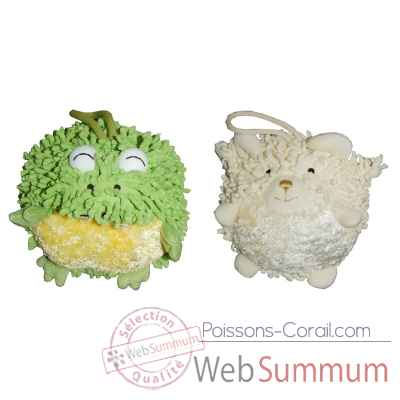 Video Les Petites Marie - Collection Boule, Lot de 2 boules Grenouille et Mouton
