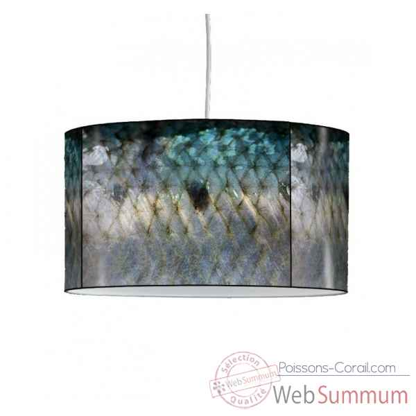 Lampe suspension collection matieres peau de sardine -MAT1335SUS
