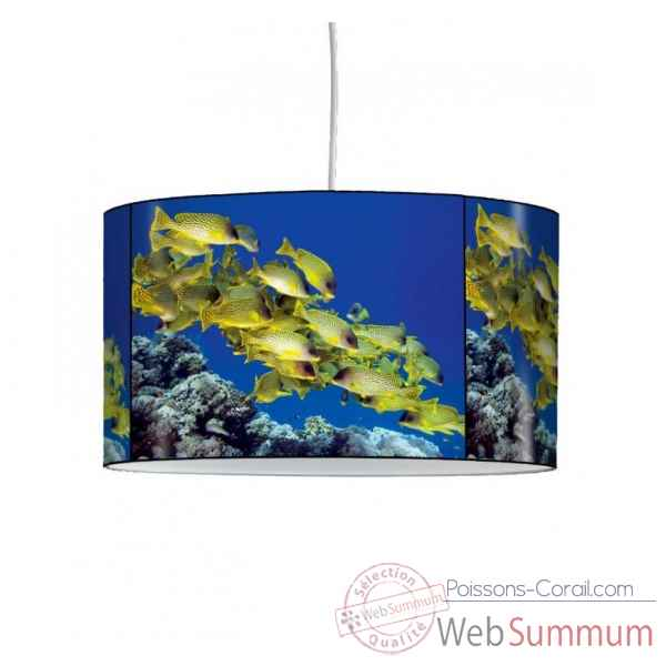 Lampe suspension faune marine poissons tropicaux -FM1210SUS
