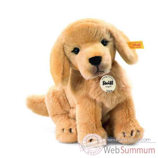 Peluche steiff golden retriever chiot yellow, blond doré -270123